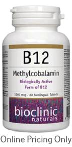 BIOCLINIC B12 METHYLCOBALAMIN 60tabs