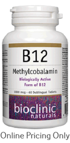 BioClinic B12 Methylcobalamin 60tabs