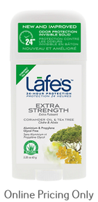 Lafe's Deodorant Stick Extra Strength 63g