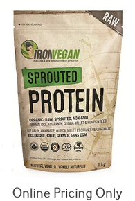 Iron Vegan Sprouted Protein Natural Vanilla 500g