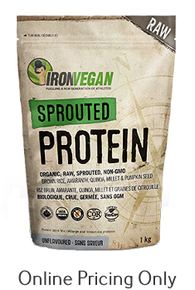Iron Vegan Sprouted Protein Unflavoured 500g