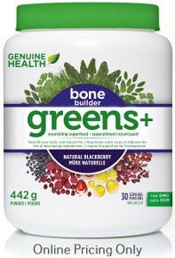 GENUINE HEALTH GREENS+ BONE BUILDER BLACKBERRY 442g