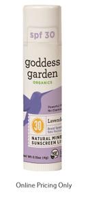 Goddess Garden Lip Balm SPF30 Lavender Mint 4g