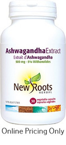 New Roots Ashwagandha Extract 500mg 30caps