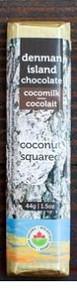 Denman Island Chocolate Cocomilk Coconut Squared 44g