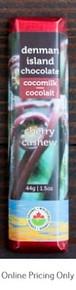 Denman Island Chocolate Cocomilk Cherry Cashew 44g