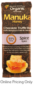 ZibaDel Manuka Honey Organic Chocolate Truffle Bar Spice 70g