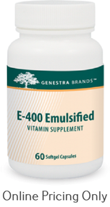 Genestra Brands E-400 Emulsified 60caps