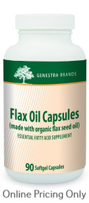 Genestra Brands Organic Flax Oil 90sg