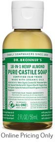 Dr Bronners Almond Castille Soap 59ml