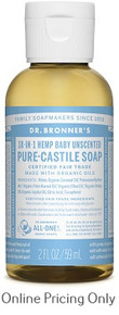 Dr Bronners Baby Mild Castile Soap 59ml