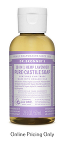 Dr. Bronners Lavender Soap 59ml