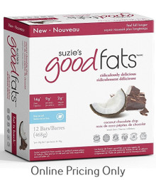 Suzie's Good Fats Coconut Chocolate Chip Bars Box of 12
