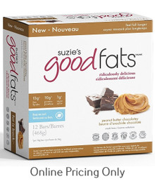 Suzie's Good Fats peanut Butter Chocolate Bar Box of 12