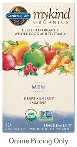 MyKind Organic's Men's Once Daily 30vtabs