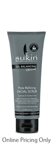 Sukin Oil Balancing Charcoal Facial Scrub 125ml