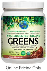 Whole Earth & Sea Fermented Organic Greens Organic Chocolate 438g