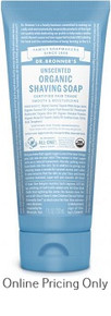 Dr Bronners Organic Shaving Soap Unscented 207ml