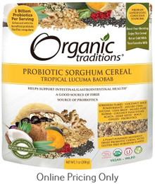 Organic Traditions Probiotic Sorghum Cereal Tropical Lacuma Baobab 200g
