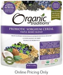 Organic Traditions Probiotic Sorghum Cereal Triple Berry Blend 200g