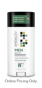 Andalou Men Botanical Highland Pine Deodorant 75g