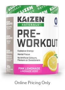 Kaizen Naturals Pre-Workout Pink Lemon 243g