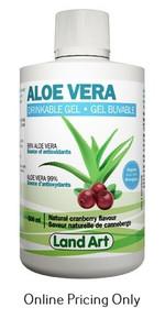 Land Art Aloe Vera Gel Cranberry 500ml