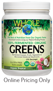Whole Earth and Sea Fermented Organic Greens Tropical 438g
