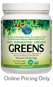Whole Earth and Sea Fermented Organic Greens Unflavoured 438g