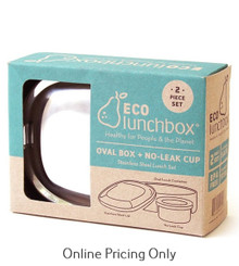 EcoLunchBox Oval & No Leak Cup Set