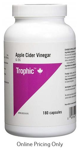 Trophic Apple Cider Vinegar with B6 180caps
