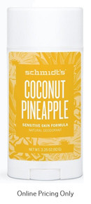 Schmidt's Sensitive Skin Coconut Pineapple Deodorant 92g