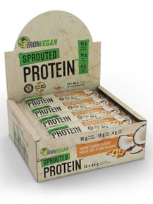 Iron Vegan Sprouted Probar Coconut Cashew Cluster Box 12 x 64g