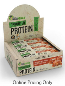 Iron Vegan Sprouted Probar Salty Caramel Box 12 x 64g