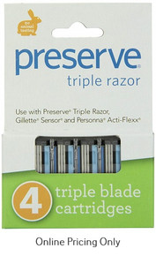 Preserve Triple Razor Cartridges 4pack