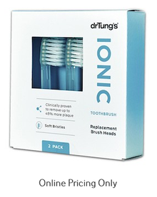 Dr Tungs Toothbrush Replacement Head 2 Pack