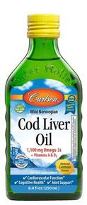 Carlson Norwegian Cod Liver Lemon 500ml