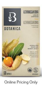 Botanica Ashwagandha Liquid Phytocaps 60caps
