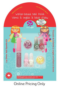 Suncoat Girl Lip Gloss, Nail Sparkle Kit 1pk