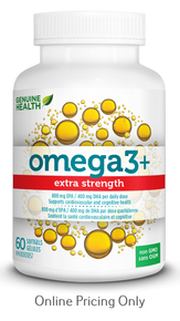 Genuine Health Omega3 Extra Strength 60sg