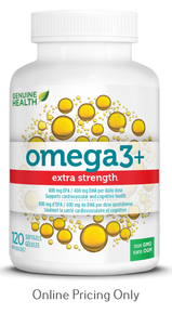 Genuine Health Omega3 Extra Strength 120sg