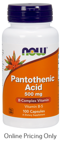 NOW Pantothenic Acid 500mg 100caps