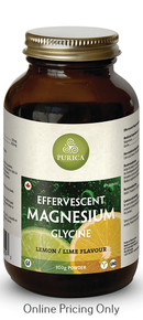 Purica Effervescent Magnesium Glycine Lemon Lime 300g