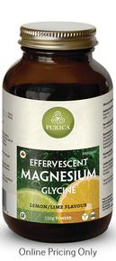 Purica Effervescent Magnesium Glycine Lemon Lime 150g