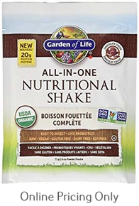 Garden of Life All in One Nutritional Shake Chocolate 73g packet