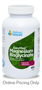 Platinum Naturals Easymag Magnesium Bisglycinate 60sg