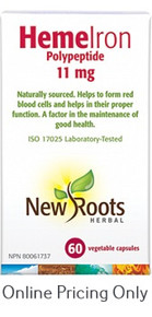 New Roots Heme Iron 11mg 60vcaps