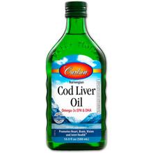 Carlson Norwegian Cod Liver Unflavoured 500ml