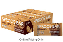 Sproos Collagen Bar Chocolate Almond Butter 12 X 54g