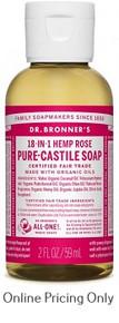 Dr Bronners Organic Rose Liquid Soap 59ml